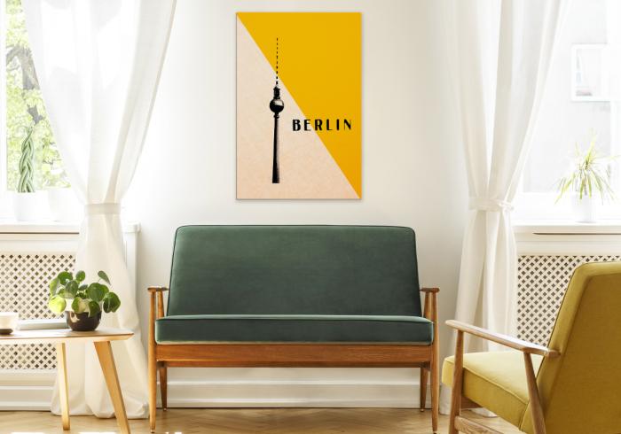 Bild Berliner Fernsehturm im Wohnzimmer