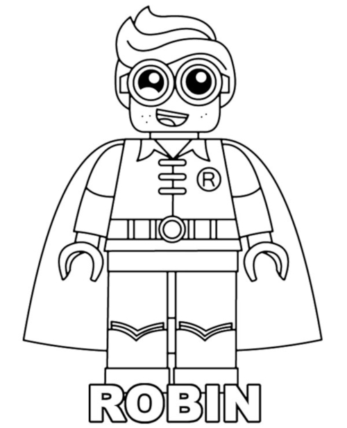 Coloring pages with Lego