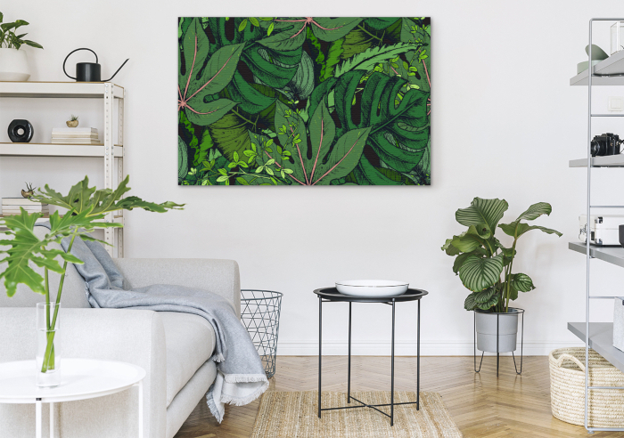 Obraz do salonu zieleń