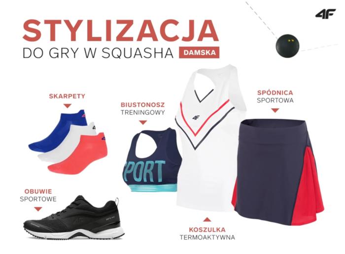 Stylizacja damska do gry w squasha
