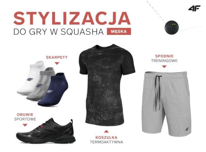 Stylizacja męska do gry w squasha