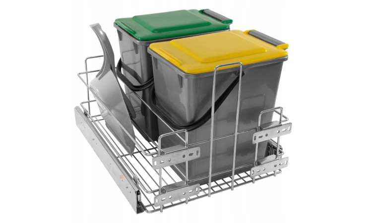 Pull-out waste bin