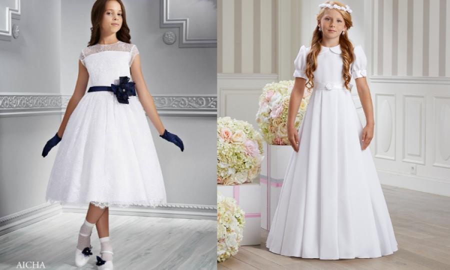 296467f4ce Sukienki komunijne dla dziewczynek - jaką wybrać